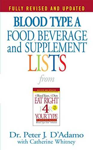 Blood-Type-A:-Food,-Beverage-and-Supplement-Lists-from-Eat-Right-for-Your-Type