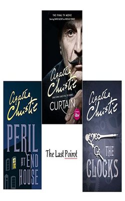 The-Clocks-(Poirot),-Peril-at-End-House-(Poirot),-Curtain:-Poirot's-Last-Case-Set-of-3-Books