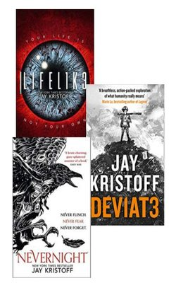LIFEL1K3-(LIFELIKE),-DEV1AT3-(DEVIATE),-Nevernight-(The-Nevernight-Chronicle,-Book-1)-Set-of-3-books-by-Jay-Kristoff-Paperback