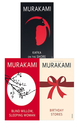 KAFKA-ON-THE-SHORE,-BLIND-WILLOW,-SLEEPING-WOMAN-and-BIRTHDAY-STORIES-set-of-3-books-by-HARUKI-MURAKAMI-(Paperback)